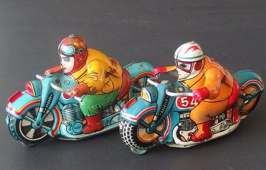 JAPAN MOTORCYCLE  TIN TOYS (2)