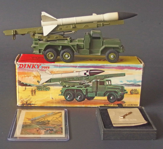 DINKY HONEST JOHN MISSILE LAUNCHER TOY W/BOX