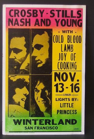 CROSBY, STILLS, NASH & YOUNG 1969 POSTER