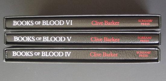 CLIVE BARKER BOOKS OF BLOOD 3 VOL SIGNED 1ST ED.