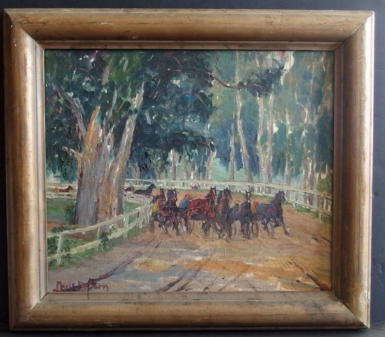 MARIE DU BARRY AMERICAN IMPRESSIONIST PAINTING