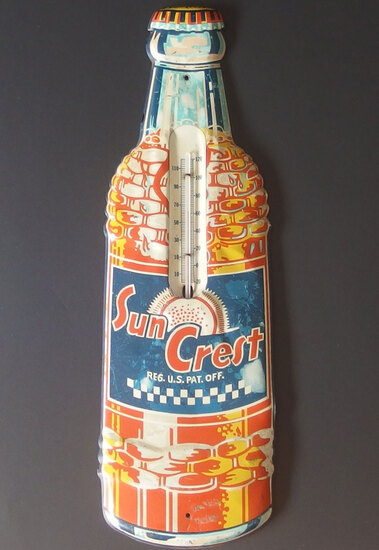 VINTAGE SUN CREST SODA THERMOMETER