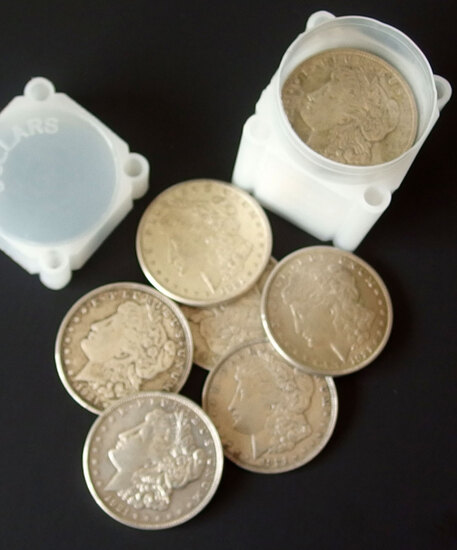 20 MORGAN SILVER DOLLAR COINS