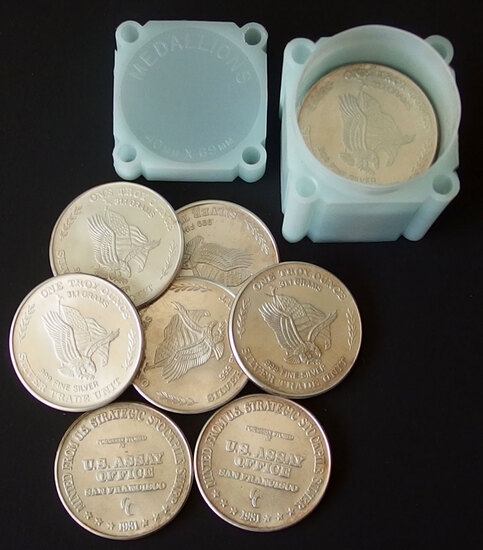 20 X 1 TROY OZ U.S. ASSAY OFFICE ROUNDS