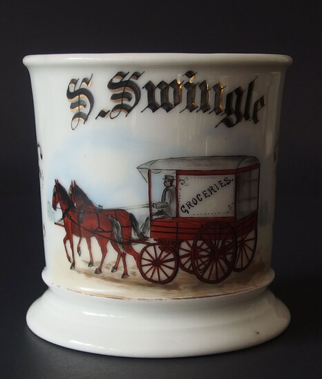 19TH CENTURY OCCUPATIONAL SHAVING MUG