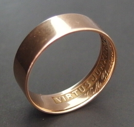 ANTIQUE 14KT GOLD MASONIC RING