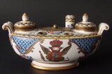 FRENCH PORCELAIN DOUBLE INKSTAND
