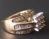 10KT GOLD & DIAMOND COCKTAIL RING