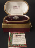 VINTAGE BENRUS 14KT GOLD & DIAMOND LADIES WATCH