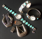 NAVAJO MEXICAN & WESTERN STERLING JEWELRY