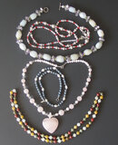 STERLING SILVER & HARD STONE NECKLACES