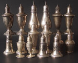 8 PAIRS: STERLING S/P SHAKERS