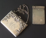 VINTAGE STERLING PURSE & COMPACT