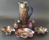 AMETHYST CARNIVAL GLASS COLLECTION