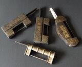 VINTAGE CHINESE BRASS LOCKS
