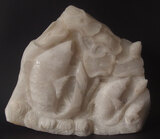 CHINESE CARVED JADE FISH SCULPTURE