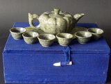 CHINESE NEPHRITE JADE TEASET WITH BOX