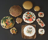 VINTAGE STRATTON ENAMELED COMPACTS & PILLBOXES