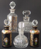 CRYSTAL SCENT BOTTLE COLLECTION (5)