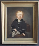 VICTORIAN PORTRAIT PAINTING SIGNED RUSSELL