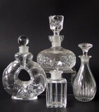 BACCARAT & WATERFORD CRYSTAL SCENT BOTTLES