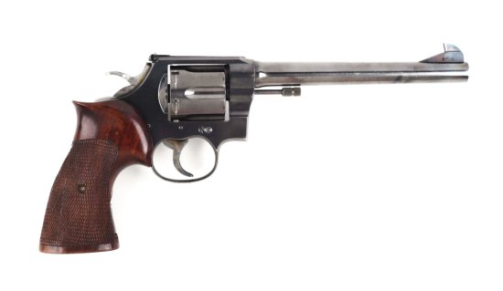 (C) Custom Target Colt New Service Double Action Revolver.