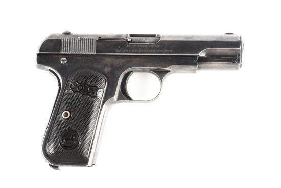 (C) Early 2-Digit (62) Colt Model 1908 Hammerless Pocket Automatic Pistol.