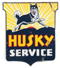 Husky Gasoline Service Porcelain Shield