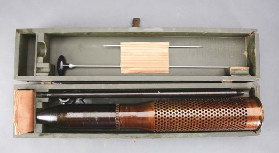 Rare and Desirable U.S. Military Sub-Caliber Device for the M-20 75 MM Recoiless Rifle in Original B