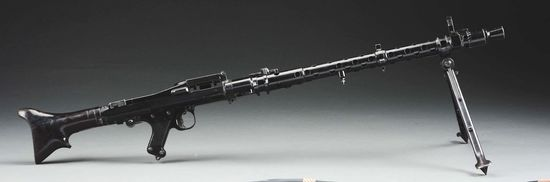 Absolutely Fabulous and Rare Original Matching and Complete German WW2 Rheinmettal Manufactured MG34