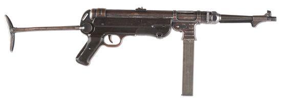 (N) Matching Original German WWII MP-40 Machine Gun (CURIO & RELIC) (DEACTIVATED STATUS).