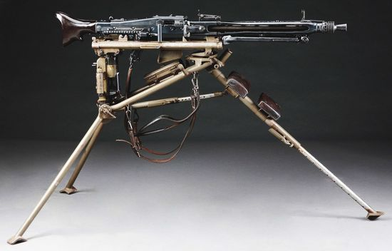 (N) Superb and Iconic German WW2 Mauser Manufactured MG 42 Machine Gun on Lafette Mount (CURIO & REL