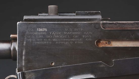 (N) Exceptionally Rare U.S. Westinghouse Browning Tank Machine Gun on Rare Model 1918 Tripod (CURIO