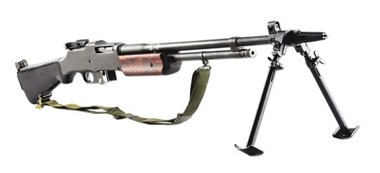 (N) U.S. WW2 New England Small Arms 1918A2 Browning Automatic Rifle (BAR) Machine Gun (CURIO AND REL