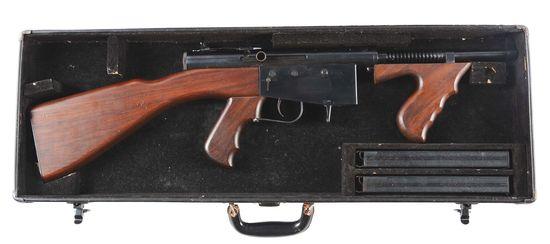 (N) Near Mint Early Police Ordnance Model 6 Machine Gun in Original Case with Magazines & Accessorie