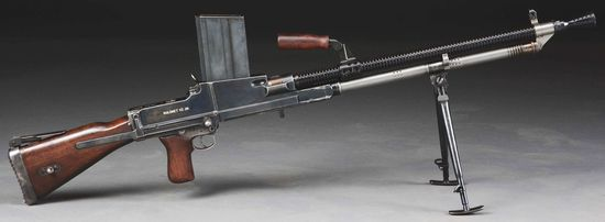 (N) Absolutely Fantastic German WW2 ZB-26 Machine Gun With SS Death's Head Marking (CURIO & RELIC).
