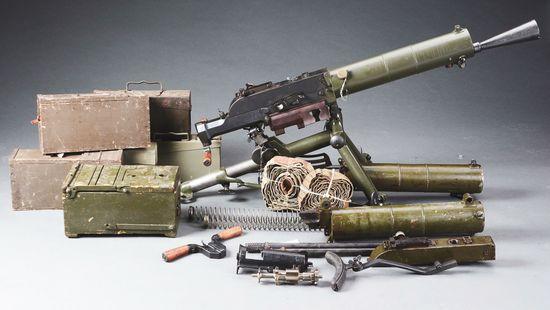 (N) Incredibly Scarce and Highly Desirable Historic WW1 Austrian Schwarzlose Machine Gun as Converte