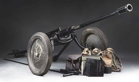 (N) Extremely Rare and High Condition Swiss Model 1941 Anti-Tank Gun in 24 MM (DESTRUCTIVE DEVICE)