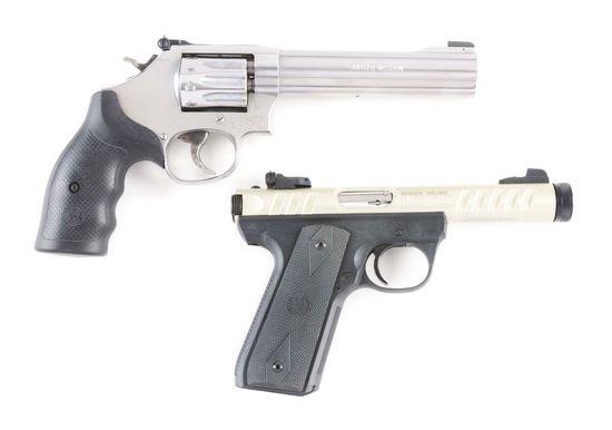 M) Lot of 2: Ruger Mk III 22/45 Lite Pistol & S&W Model 617