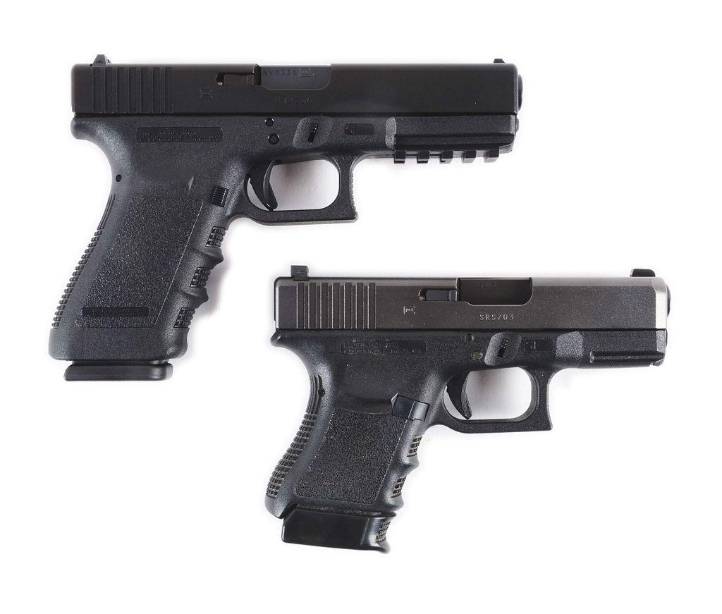 Lot: (M) Lot of 2: Gen 3 Glock 21 SF and Gen 3 Glock 30SF