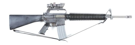 (M) Pre-Ban Colt AR15 A2 Sporter II Semi-Automatic Rifle with Trijicon 4x32 Optic.