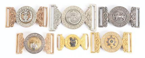 Lot Of 6: Victorian British Army Belt Buckles.