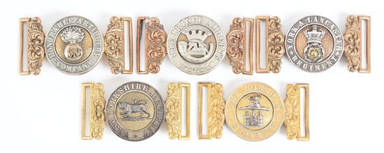 Lot Of 5: Victorian British Army Belt Buckles