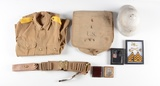 SPANISH AMERICAN WAR ERA MILITARY JACKET WITH ACCESSORIES.
