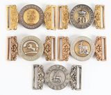 Lot Of 5: Victorian British Army Belt Buckles.