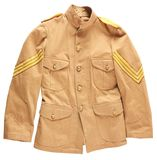 Lot of 2: US Army Spanish American War Cavalry Tunic And Shirt.