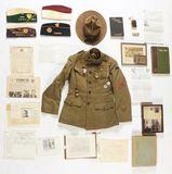 Identified World War I Balloon Service Uniform Group.