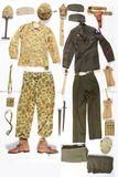 Large Lot Of World War II USMC Uniforms And Gear.