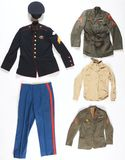 7- Large Lot Of Marine Corp Uniforms And Memorabilia.