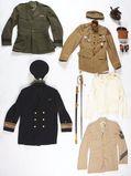 Lot of 9: World War II Period US Navy And Coast Guard Uniforms.